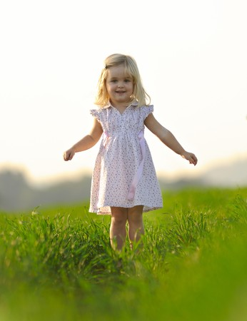 Portrait of an adorable young blonde girl Stock Photo - 7378740