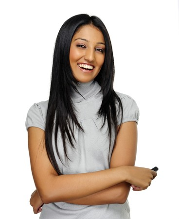Beautiful young Indian girl poses for a portrait Stock Photo - 7786131