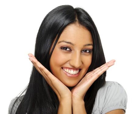 fille indienne: Cute portrait de fille indienne attrayante