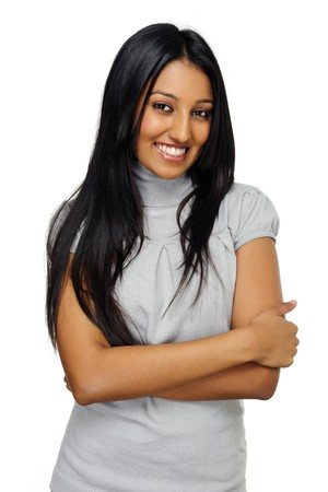 Beautiful young Indian girl poses for a portrait Stock Photo - 7786166