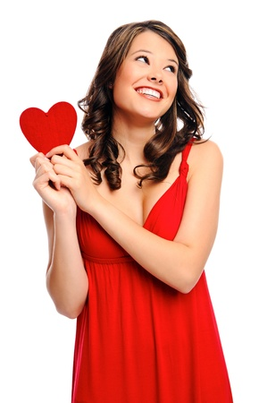 Wishful girl dreams of her valentines Stock Photo - 8727123