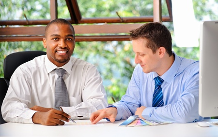 requires: Business executives discuss about what the client requires for the quote