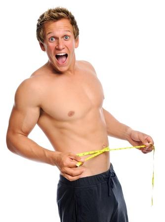 waist: El hombre es sorprendido con la medida nueva l�nea de la cintura