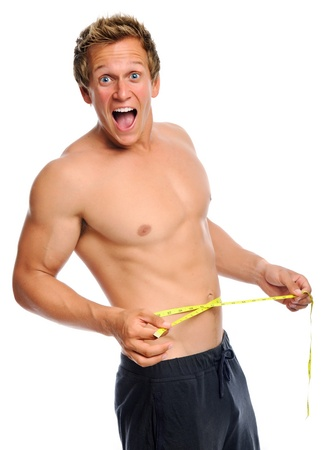 fit man: Man is amazed with new waist line measurement