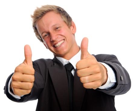 overjoyed: positive businessman