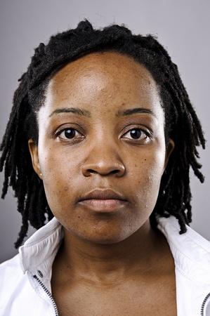 mujeres africanas: Muy detallado retrato de una muchacha joven negro