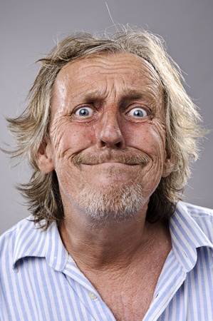 funny faces: A real funny face captured in high detail (see portfolio for more in this series)  Stock Photo