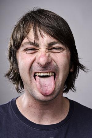 gente loca: Una cara real capturada en gran detalle (v�ase cartera m�s en esta serie)