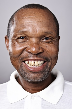old black man: Highly detailed fine art portrait. smiling happy real person