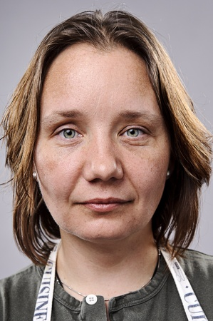 pores: Young woman without makeup, highly detailed portrait