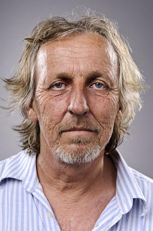 balding: Highly detailed portrait of an older man, wrinkled and balding