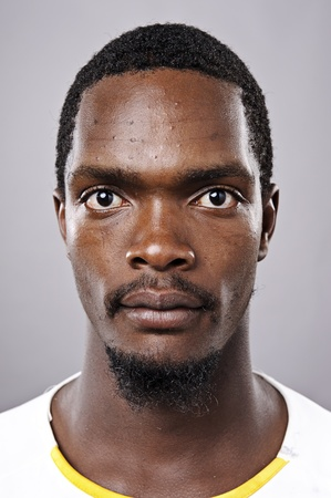 Amanzingly high detailed portrait of an African face, must see at full size.  photo