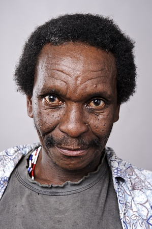 old man beard: Amanzingly high detailed portrait of an African face, must see at full size.