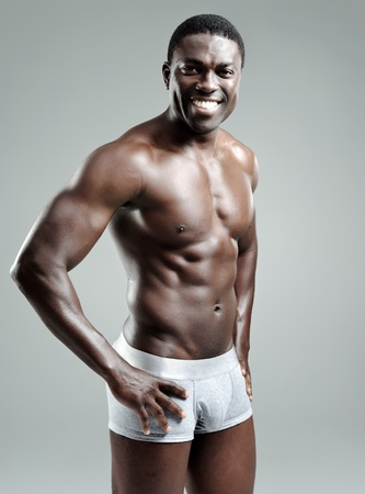Confident masculine model poses in his underwear in studio Stock Photo - 10570457