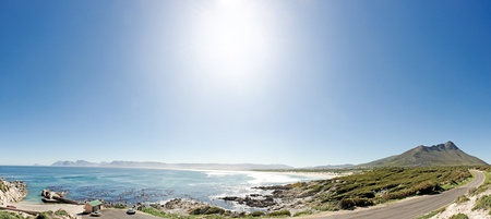 beautiful vista over the natural bay near Cape Town, South Africa photo