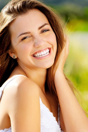 A stunning portrait of a genuine person with a carefree smile and beautiful face Stock Photo - 11474432