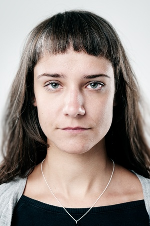 women face stare: highly detailed portrait of a normal person. portfolio contains hundreds of these for cultural and ethnic diversity campaigns and concepts. (see also funny faces and smiling faces)