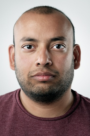 stubble: highly detailed portrait of a normal person. portfolio contains hundreds of these for cultural and ethnic diversity campaigns and concepts. (see also funny faces and smiling faces)