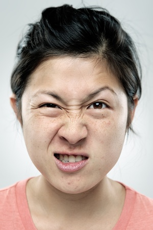 making face: A real funny face captured in high detail Stock Photo