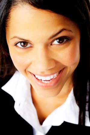 gorgeus: real fun portrait of a gorgeus woman smiling at camera.
