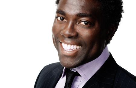 black african businessman portrait headshot smiling and positive Stock Photo - 12753008