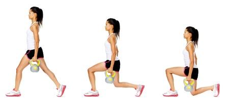 serie: Series of Kettlebell Gewicht �bungsfolge, um Kraft und Muskeltonus zu f�rdern, finden Sie in Portfolio f�r mehr in dieser Serie. Lizenzfreie Bilder