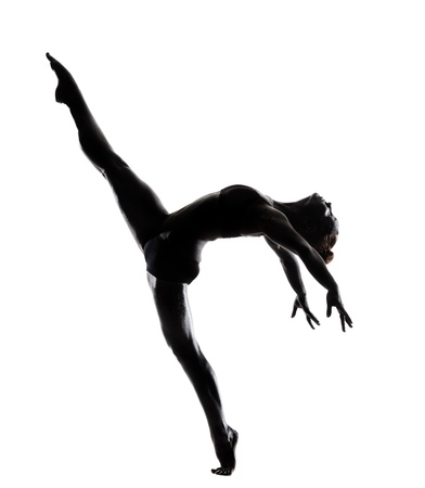 ballet dancer in black body paint series isolated on white background expressive artistic dance concept photo