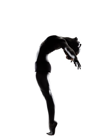 ballet dancer in black body paint series isolated on white background expressive artistic dance concept Stock Photo - 16437099