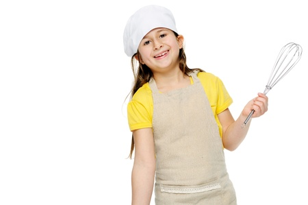 niños cocinando: cocinerita con batidor niño retrato, jugando cocinero