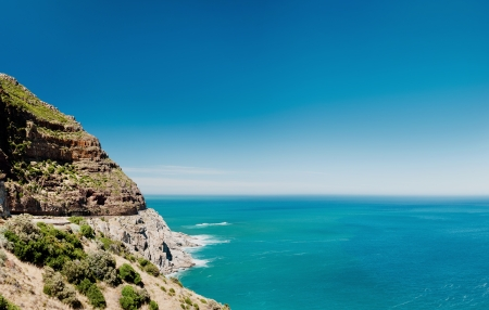 Chapmans Peak drive in Cape Town, South Africa. scenic ocean road Stock Photo - 17744508