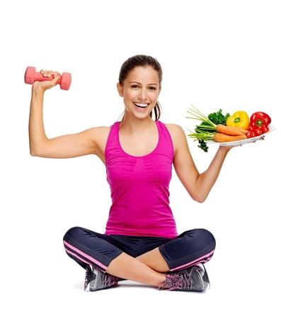 comidas saludables: la alimentaci?n saludable y el ejercicio por concepto de dieta de p?rdida de peso