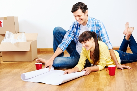 home owner: new home floor plans couple moving in