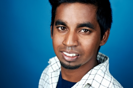 happy smiling portrait of indian man photo