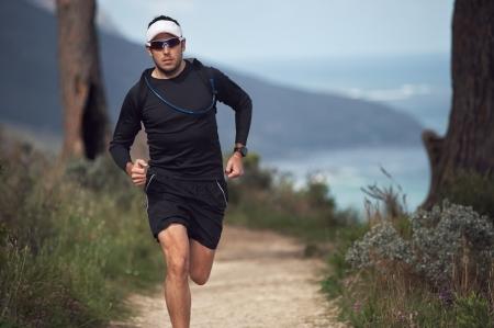 portrait of a trail runner exercising for fitness