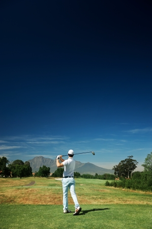 Golf shot on course in fairway on vacation Imagens