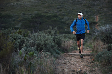 ultra: ultra marathon trail runner training in mountains for fitness and exercise