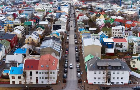 settlement: Aerial view of Reyjkavik Iceland city settlement