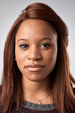 Portrait de vraie femme africaine noire sans ID d'expression ou d'un passeport photo collection complète de visage divers et expressions Banque d'images - 65423818