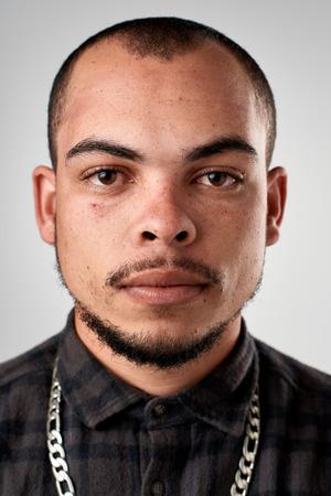 식 사용 ID 또는 여권 사진 진짜 히스패닉 남자의 초상화 다양 한 얼굴과 식의 전체 컬렉션 스톡 콘텐츠