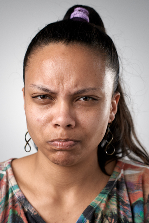 comedic: Full collection of real funny faces people making silly expressions Stock Photo