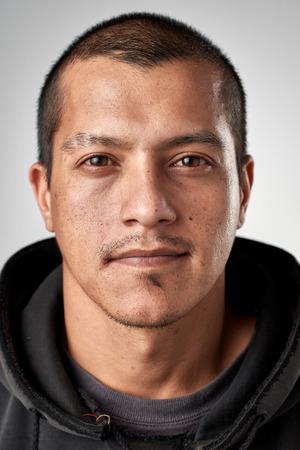 Portrait de l'homme réel caucasien blanc sans ID d'expression ou d'un passeport photo collection complète de visage divers et expressions Banque d'images - 65426145
