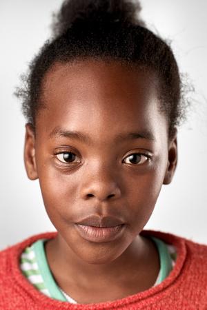 foto carnet: negro colección de retratos joven africana