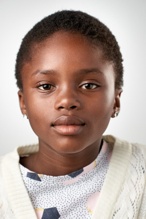 female child: Young black african girl portrait collection
