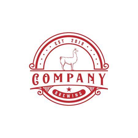llama brewing logo on white
