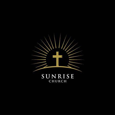 Cross and sunrise logo