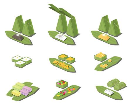 Le dessert vecteur Thaïlande Banque d'images - 39289183