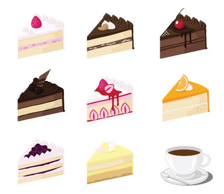 piece of cake: pedazo de la torta vector Vectores