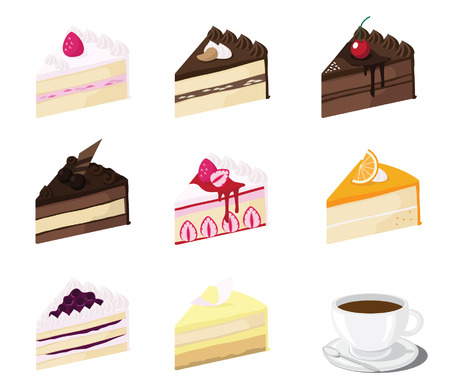 blueberry cheesecake: piece of cake vector