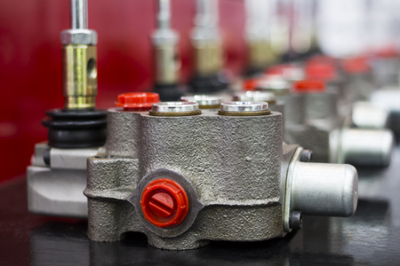 Aluminium Gravity Die casting Part assembly in machine parts ; close up