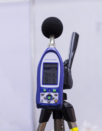 profile measurement: a sound level meter and analyzer measuring ; selective focus